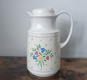 Vintage 80s Thermos Floral Pattern Coffee Carafe